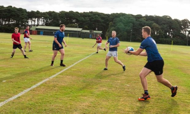 A total of 28 players took part in the 34-hour match. Photo: RAF Lossiemouth