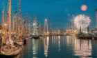 1997 - A spectacular fireworks display ended the first day of  the Tall Ships' arrival in spectacular style