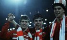Eric Black celebrates another success during his spell with Aberdeen.