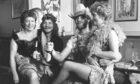1986 - Recreating some Wild West bar room scenes at Bucksburn's Four Mile Inn