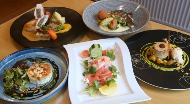 A selection of dishes from Falls of Feugh.