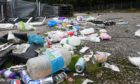 Travellers have left mess at the old AECC grounds in Bridge of Don. Picture by Chris Sumner.