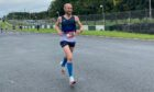 Metro Aberdeen's Chris Richardson winning the Anglo Celtic Plate 100k race.