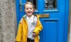 Clio Mulholland, 4, on her first day at Foveran School.