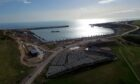 Locator of Aberdeen South Harbour expansion project in Nigg Bay, Coast Road, Aberdeen.