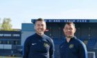 Banks o' Dee co-managers Roy McBain, left, and Jamie Watt are looking forward to facing Fraserburgh