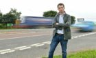 Andrew Bowie MP at the notorious Laurencekirk junction. Photography by Kath Flannery.