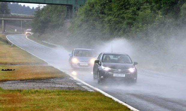 Heavy rain and thunder is forecast across the north-east