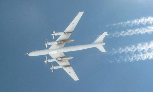 One of the TU-142 Bear-F planes tracked by RAF Lossiemouth Typhoons. Photo: RAF Lossiemouth
