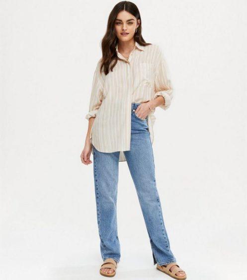 oversized shirt as summer outfit ideas