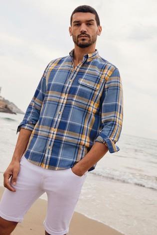 check shirt as a summer outfit ideas