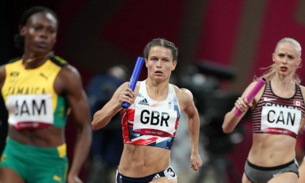 Zoey Clark ran the second leg in Tokyo