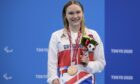Aberdeen's Toni Shaw with her bronze medal.