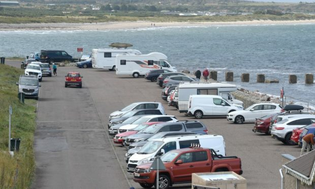 Lossiemouth's West Beach is a popular destination for visitors. Photo: Sandy McCook/DCT Media