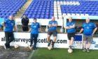 Football fans in training