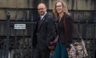 Scottish Green Party co-leaders Patrick Harvie and Lorna Slater arrive at Bute House