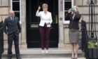 Patrick Harvie, Nicola Sturgeon and Lorna Slater at Bute House during Monday's appoitment.