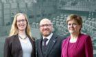 Lorna Slater, Patrick Harvie and Nicola Sturgeon