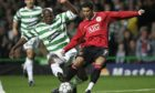 Cristiano Ronaldo in action for Manchester United against Celtic in 2006.