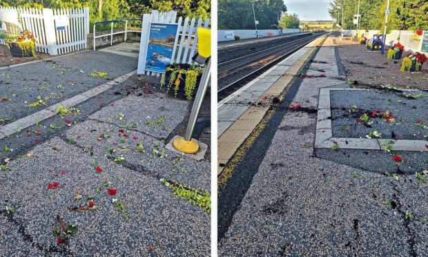 Stonehaven train station has been vandalised
