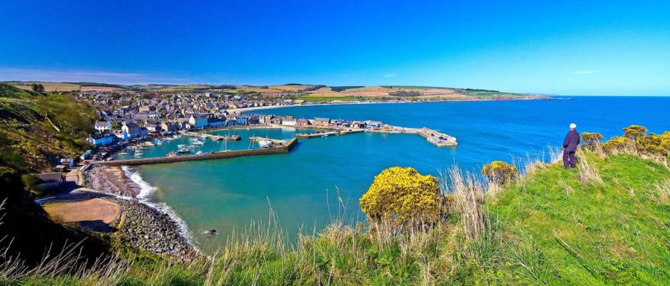VA Rediscover August - Alan Findlay - A Stonehaven resident admiring the view