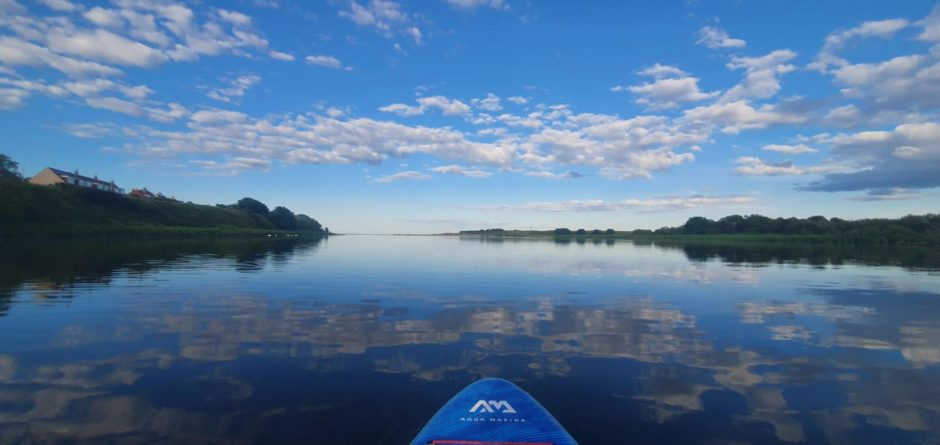 VA Rediscover August - Amy Barclay - Paddle boarding at Donmouth