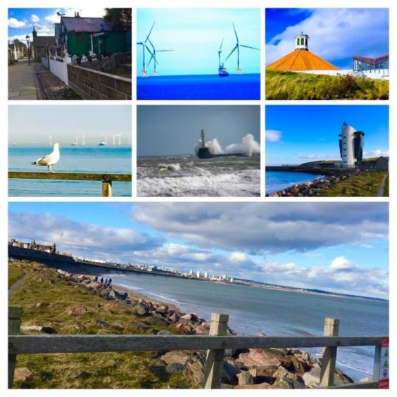 VA Rediscover August - Marilyn Christie - A collage of Aberdeen's beautiful seashore