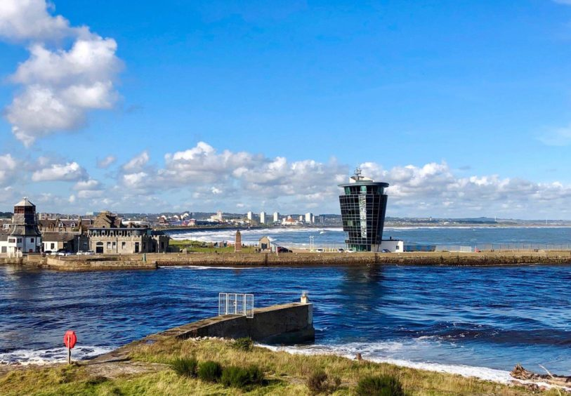VA Rediscover August - Marilyn Christie - Aberdeen Harbour control tower guarding our bay