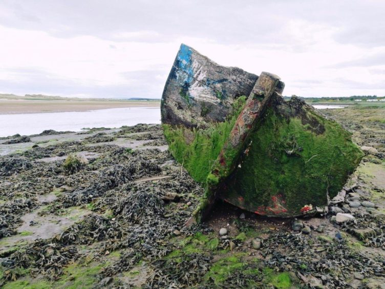 VA Rediscover August - Megan Smith - Abandoned boat Lossiemouth
