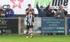 Scott Barbour celebrates Fraserburgh's goal against Brechin City.