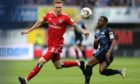 David Bates (left) in action for Hamburg against Paderborn's Christopher Antwi-Adjei.