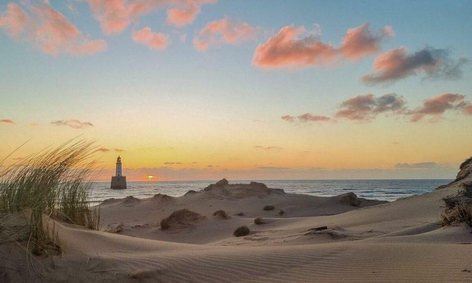Sunrise at Rattray head, by Michael Diamond.