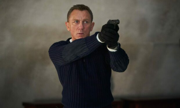 Daniel Craig in the new James Bond film - No Time To Die