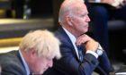 Boris Johnson and Joe Biden spoke in a joint press conference on Wednesday