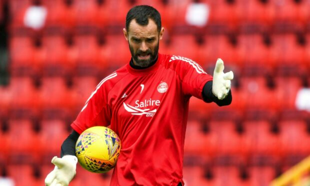 Aberdeen keeper Joe Lewis.