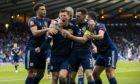 Callum McGregor celebrates after scoring to make it 1-1 against Croatia at Euro 2020.