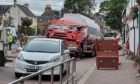 To go with story by Denitsa  Andonova. Oil tanker crashed into a property in Beauly Picture shows; Oil Tanker. Beauly. Supplied by Michelle Henderson Date; 16/09/2021
