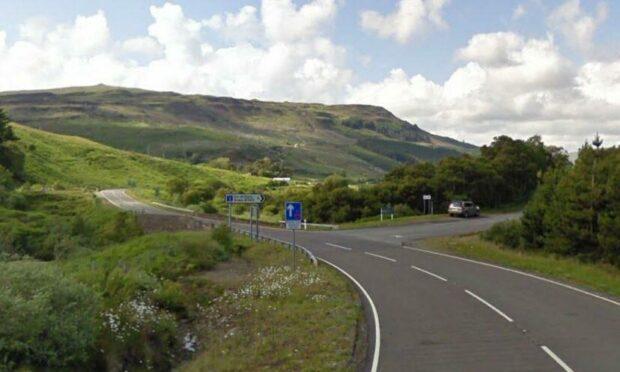 The A87 on Skye.