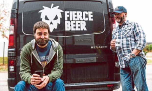 Fierce Beer's founding duo: Operations director Dave McHardy, left, and managing director Dave Grant.