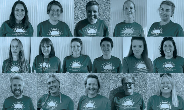 Members of staff from Carronhill School are preparing to get muddy this weekend.