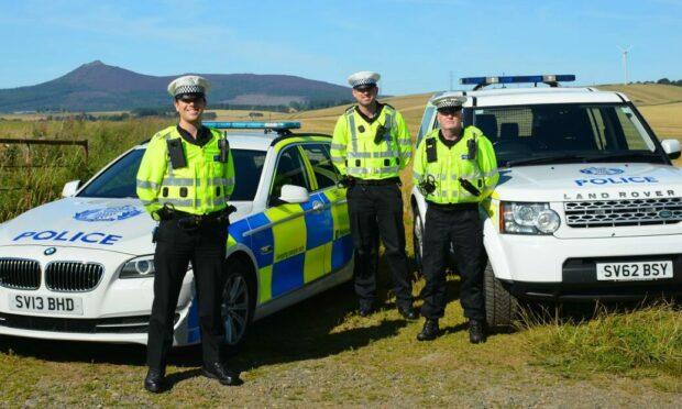 Sergeant Alexander Bowser-Riley, Constable Daniel Baird and Constable Calum Jamieson.