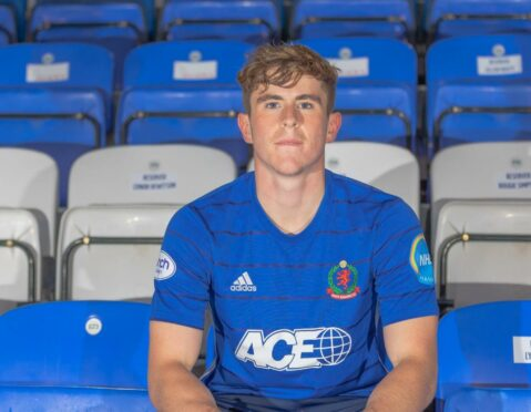 Finlay Robertson, who joined Cove Rangers on loan from Dundee last month.
