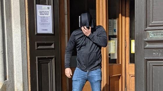 Frazier Bell leaving Aberdeen Sheriff Court.