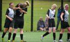 Grampian Ladies celebrate a goal.