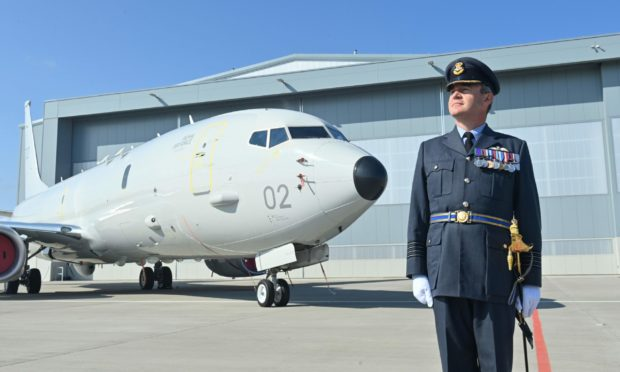 Group Captain Chris Layden, station commander of RAF Lossiemouth. Photo: Jason Hedges/DCT Media