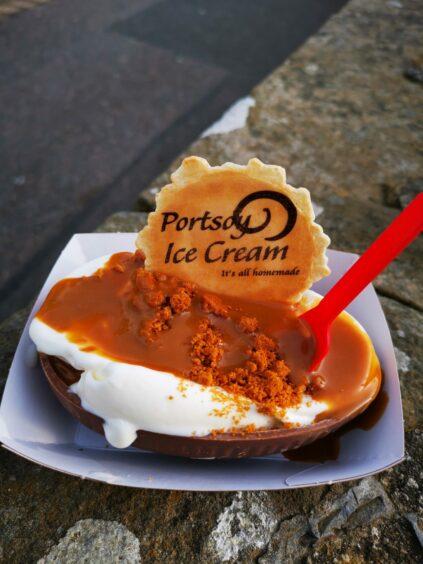 Portsoy ice cream by Jamie Teasdale.
