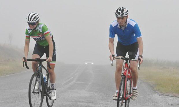 Erin Murphy, left, is now the Scottish Junior Road Champion