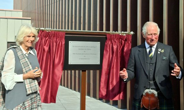 The Duke and Duchess of Rothesay officially reopened Aberdeen Art Gallery.