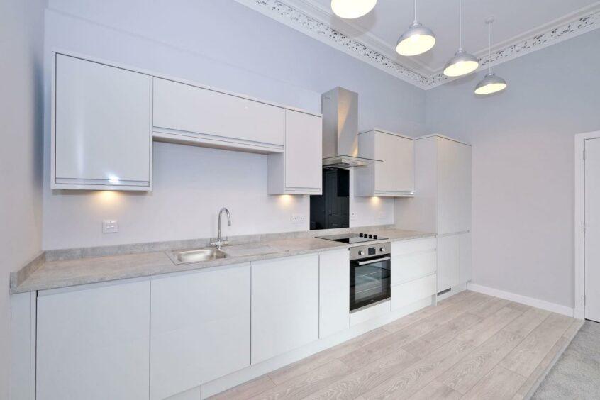 Kitchen of modern flat in Aberdeen centre