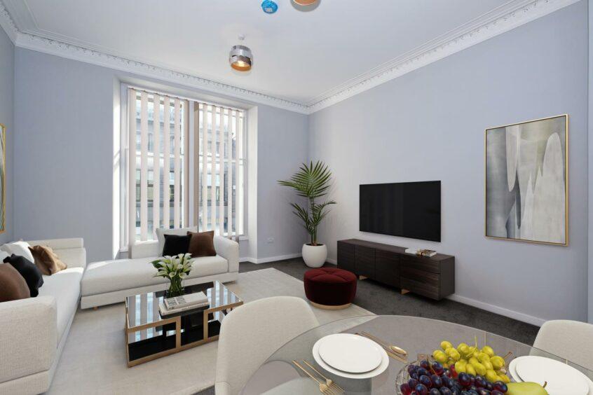 Modern flat in Aberdeen centre, in Union Street